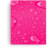 Water Droplets Pink Canvas Print