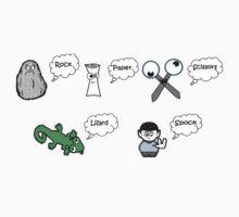 Rock, Paper, Scissors, Lizard, Spock Kids Clothes
