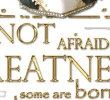 Shakespeare Twelfth Night Greatness Quote Sticker