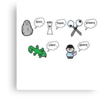 Rock, Paper, Scissors, Lizard, Spock Canvas Print