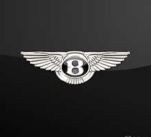 Bentley Badge-Logo 3D on Black by Captain7