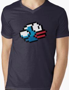 Blue Flappy bird Mens V-Neck T-Shirt