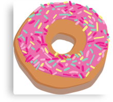 Pink delicious donut Canvas Print