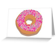 Pink delicious donut Greeting Card