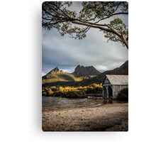 Dove Lake Boatshed Canvas Print