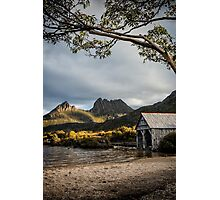 Dove Lake Boatshed Photographic Print