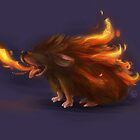 Fire Hedgehog by nicolealesart
