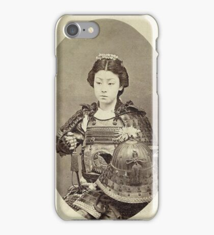 Japanese Kabuki Samurai Woman iPhone Case/Skin