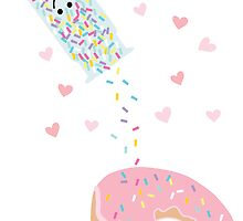 Valentines Donut Sprinkled by underwatercity