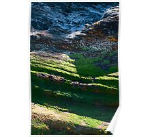Portreath Cliff Texture Poster