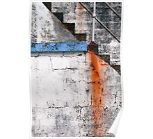 Newlyn Harbour Wall Texture Poster