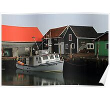 Peaceful Sandford Fishing Boat Scene Poster