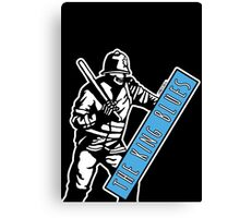 Riot Police King Blues Canvas Print