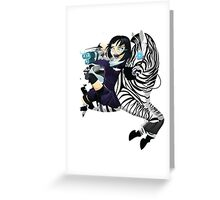 Zebra Rocket Launcher Greeting Card