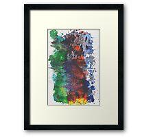 Forest Fire - left side Framed Print