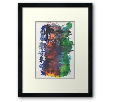 Forest Fire - right side Framed Print