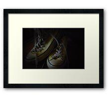 Pinhole Converse Framed Print