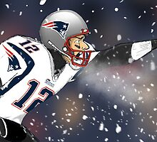 Tom Brady Together We Make Football Print by heidijogilbert