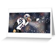 Tom Brady Together We Make Football Print Greeting Card