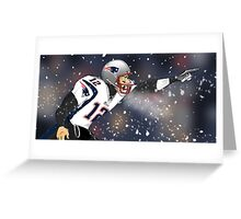 Tom Brady Together We Make Football Print Greeting Card