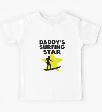 Daddy's Surfing Star Kids Tee