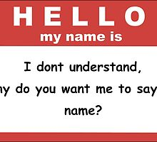 I dont understand why you want me to say my name by castielovers