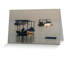 At Anchor in the Morning Light Greeting Card