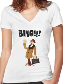 BING!!!-1 Women's Fitted V-Neck T-Shirt