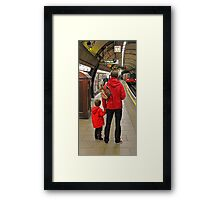 Lad And Dad Framed Print