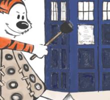 Doctor and Daleks Sticker