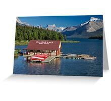 Maligne Lake Boathouse 3 Greeting Card