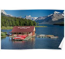 Maligne Lake Boathouse 3 Poster