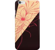 Modern Peach, Coral, and Black Floral Triangles iPhone Case/Skin