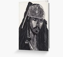 Capt. Jack Sparrow Greeting Card