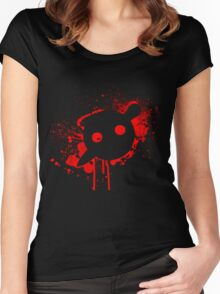 Knife Party - Blood Logo Women's Fitted Scoop T-Shirt