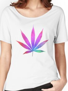 Tie Dye Pot Leaf Women's Relaxed Fit T-Shirt