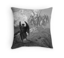 Satan cast out of Heaven Throw Pillow