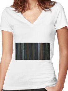 Escape from New York (1981) Women's Fitted V-Neck T-Shirt