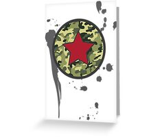 Military Stamp Greeting Card