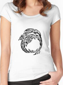 Charizard Tribal Women's Fitted Scoop T-Shirt