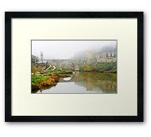 Misty Morning over the River Tagus Framed Print
