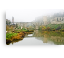 Misty Morning over the River Tagus Canvas Print
