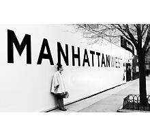 Manhattan billboard, NYC Photographic Print