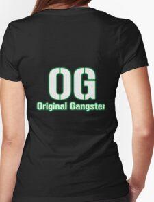 Original Gangster Text Womens Fitted T-Shirt