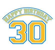 Happy Birthday 30 Years Logo by Style-O-Mat