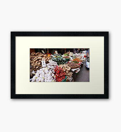 Market Framed Print