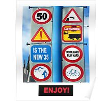 Road Sign 50 Poster
