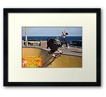 Frontside Tailslide Framed Print