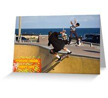 Frontside Tailslide Greeting Card