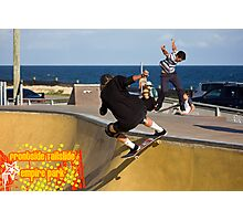 Frontside Tailslide Photographic Print